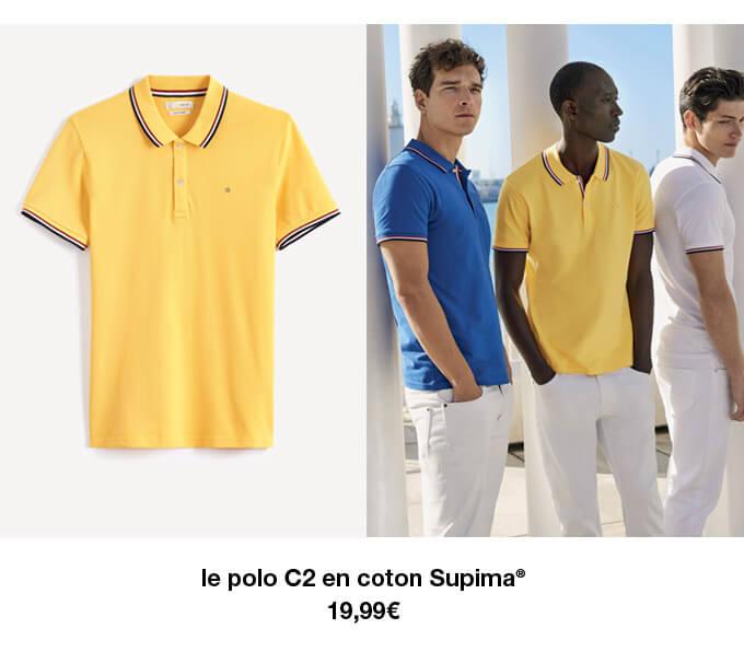 le polo C2 en coton Supima* - 19,99€