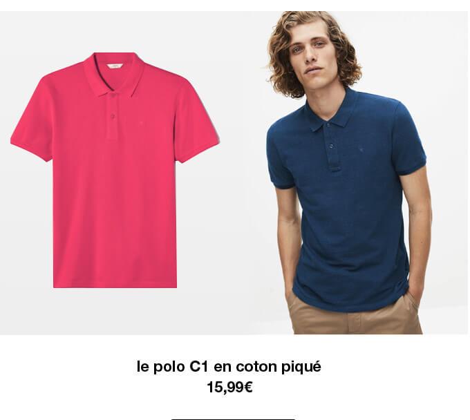 le polo C1 en coton piqué - 15,99€
