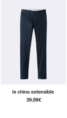 le chino extensible - 39,99€