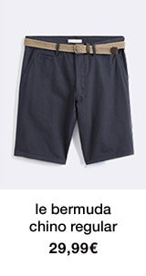 le bermuda chino regular - 29,99€
