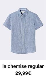 la chemise regular - 29,99€