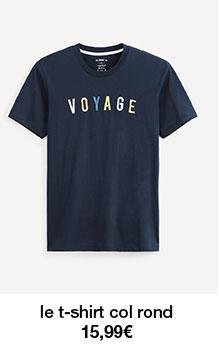 le t-shirt col rond 15,99€