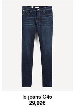 le jeans C45 29,99€