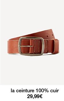la ceinture 100% cuir 29,99€