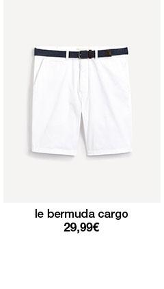 le bermuda cargo 29,99€
